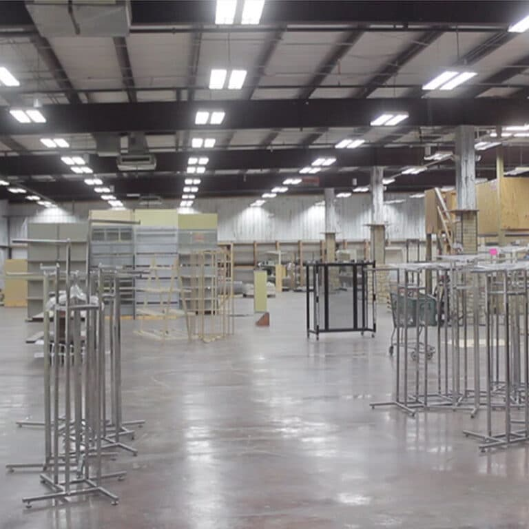 Image of store after the out of business sale ends